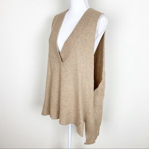 Free people wool sing vest tank sweater